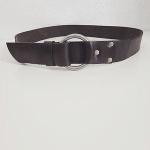 Lands' End Black Leather Loop Through Western Belt